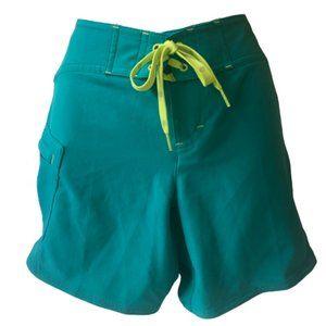 ATHLETA Board Shorts Polyester Stretch Zip Pocket